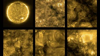 First images released of the Sun 'up close' from ESA's Solar Orbiter