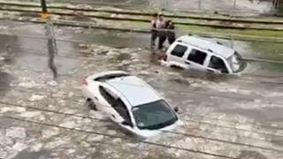 صورة ملتقطة من الفيديو_ فيضانات تضرب المكسيك