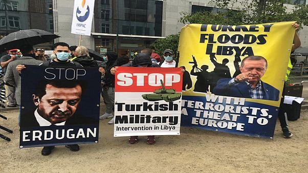 وقفة احتجاجية في بروكسل تنديدا بالتدخل التركي في ليبيا