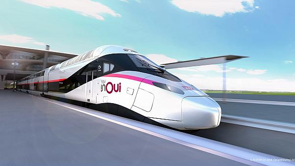 """A concept drawing of the new TGV """"M"""" train."""