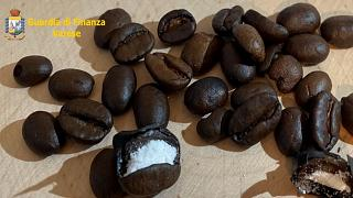 Italian police found cocaine hidden in coffee beans