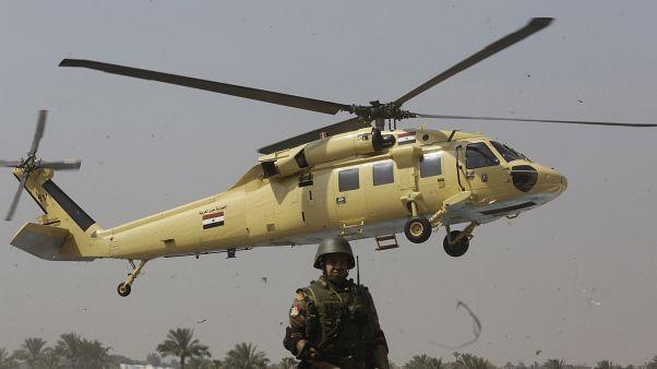 مروحية عسكرية تابعة للجيش المصري في سيناء
