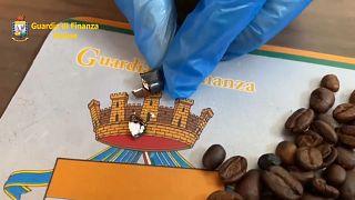 Cocaína oculta en granos de café
