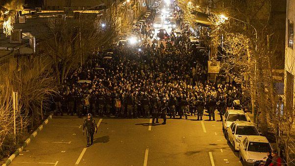 من مظاهرات يناير 2020 في طهران