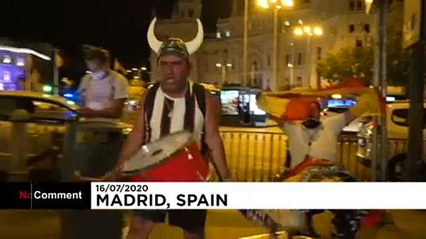 Ξέφρενοι πανηγυρισμοί για την νίκη της Ρεάλ Μαδρίτης