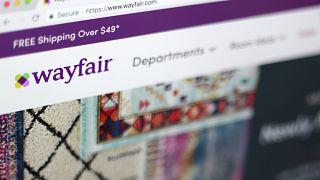 April 17, 2018, file photo shows the Wayfair website
