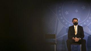 Jair Bolsonaro au palais présidentiel du Planalto à Brasilia, Brésil, le 15 mai 2020