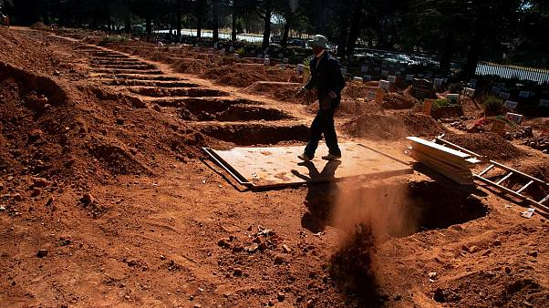 Graves are being prepared across South Africa as it faces possible shortages of COVID-19 beds and oxygen supply
