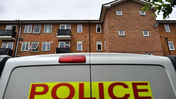 File footage shows police van in London