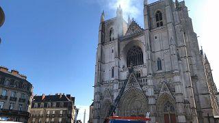 Кафедральный собор Нанта 18 июля 2020