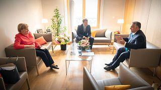Orbán Viktor Angela Merkellel és Emmanuel Macronnal Brüsszelben