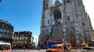 آتشسوزی «احتمالا عمدی» کلیسای جامع نانت در غرب فرانسه