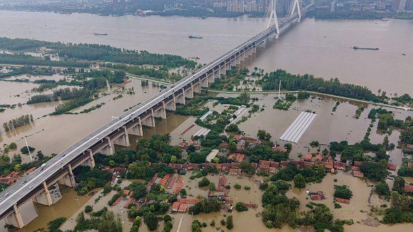 غمرت المياه بلدات وقرى في مقاطعة هوبي