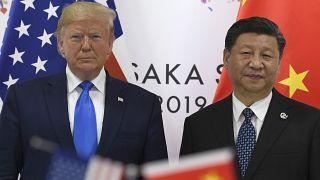 الرئيسان الأميركي والصيني خلال قمة أوساكا في اليابان العام الماضي