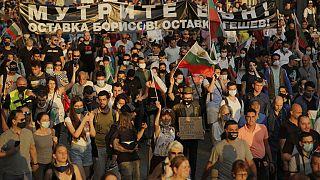 Tüntetés a bolgár fővárosban 2020. július 15-én