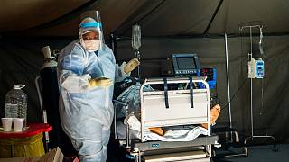 Covid-19 patients are being treated at the Tshwane District Hospital in Pretoria, South Africa, Friday July 10, 2020.