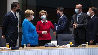 Brüksel'deki Avrupa Birliği zirvesinden bir kare