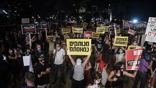 Israel: fuertes protestas contra la gestión de la pandemia ponen en la cuerda floja a Netanyahu
