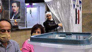 من مركز اقتراع في سوريا