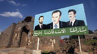 لوحة لحافظ وبشار وباسل الأسد