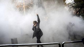خلال إحدى المظاهرات (إيران)