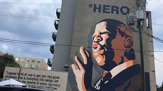 Atlanta residents gather to pay tribute to US congressman John Lewis