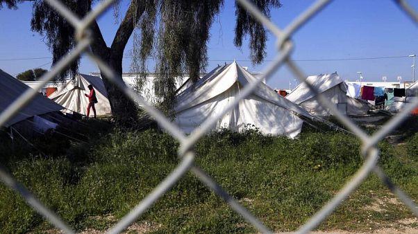 Ein Flüchtlingslager in Kokkinotrimithia außerhalb von Nikosia, Zypern, Dienstag, 3. März 2020.