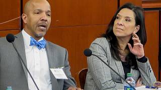 Judge Esther Salas (right) whose son was shot down in an attack at her New Jersey home.