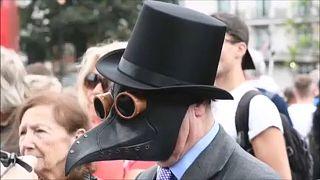 تظاهرات ضد ماسک در لندن