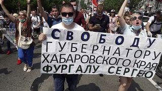 Rusia: ¿Pueden las inusuales protestas en la ciudad oriental de Jabárovsk debilitar a Putin?
