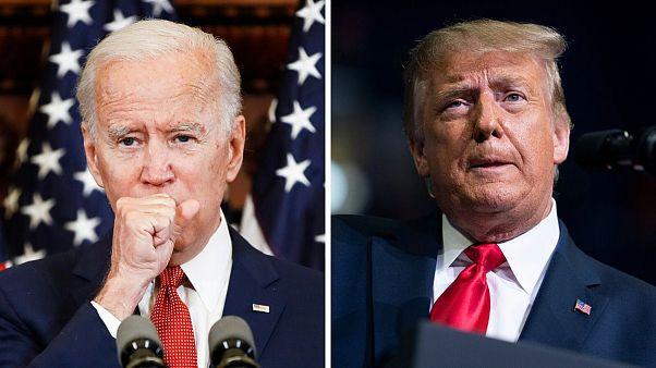 Joe Biden,Democratic presidential candidate & Donald Trump, US President