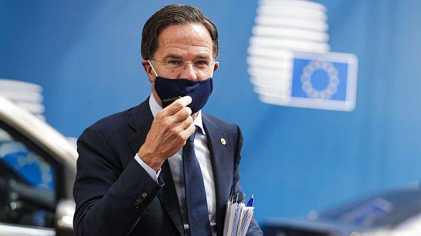 Mark Rutte holland miniszterelnök Brüsszelben
