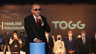 رجب طیب اردوغان در مراسم احداث نخستین کارخانه خودروسازی ترکیه
