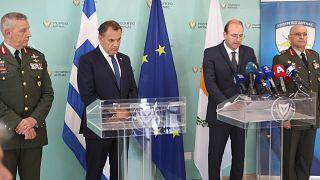 Οι υπουργοί Άμυνας Ελλάδας και Κύπρου