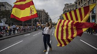 FILE: Spain's National Day in Barcelona, Oct. 12, 2017.