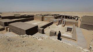 مقبرة المملكة الجديدة في جنوب سقارة، مصر، الاثنين 23  مايو 2011