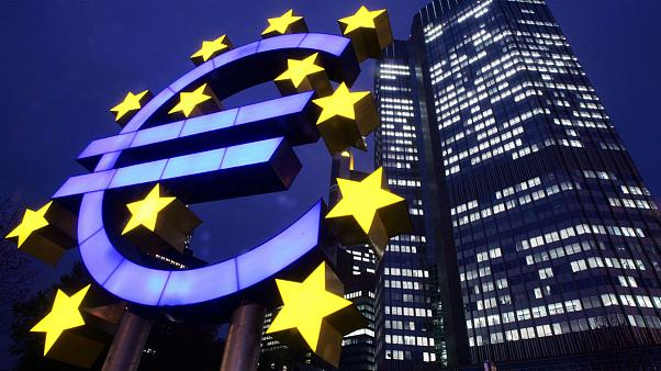 Euro symbol stands in front of the European Central Bank (ECB) in Frankfurt, Germany