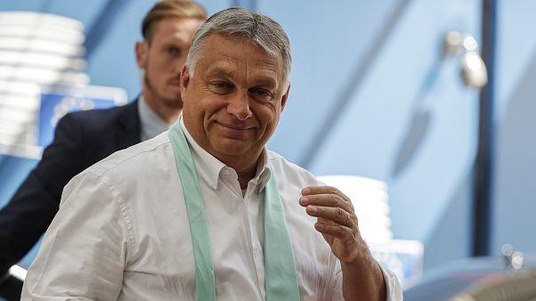 Orbán Viktor Brüsszelben 2020 július 20-án