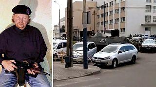 Foto do suspeito, identificado como Maksim Krivosh, divulgada pela polícia ucraniana