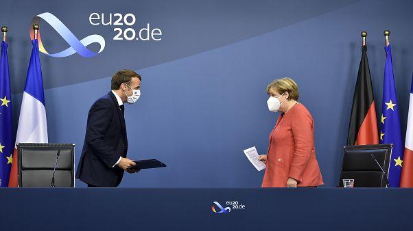 Emmanuel Macron et Angela Merkel à Bruxelles