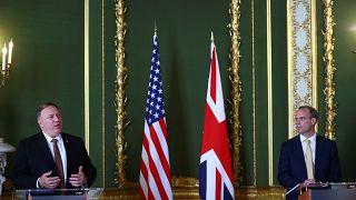 وزير الخارجية الأمريكي مايك بومبيو ونظيره البريطاني دومينيك راب