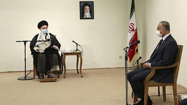 لقاء جمع المرشد الأعلى الإيراني آية الله علي خامنئي ورئيس الوزراء العراقي مصطفى الكاظمي