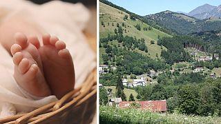 نوزادی که روستای ۲۸ نفره را شاد کرد