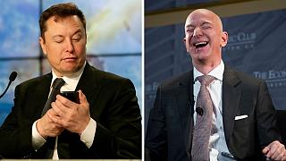 Elon Musk,Tesla Motors founder and CEO & Jeff Bezos, Amazon founder and CEO