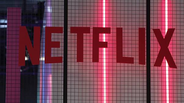 The logo of American entertainment company Netflix is pictured at the Paris games week in Paris, November 4, 2017.