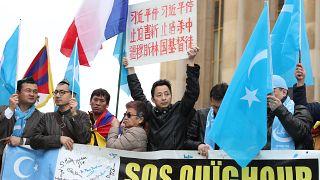 من مظاهرات داعمة للأويغور في فرنسا عام 2019