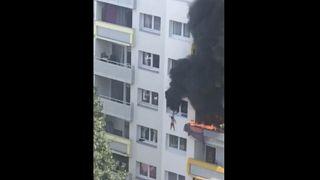 Grenoble: Kinder springen aus dem Fenster