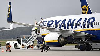 FILE - Sept. 12, 2018 - a Ryanair plane parks at the airport in Weeze, Germany