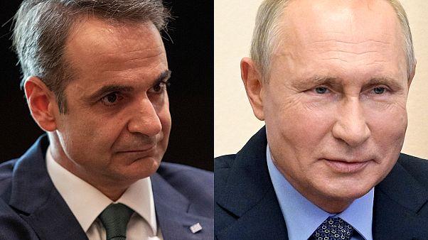 Κυριάκος Μητσοτάκης και Βλαντιμίρ Πούτιν
