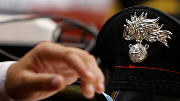 A carabinieri police hat photographed in Rome on July 16, 2020